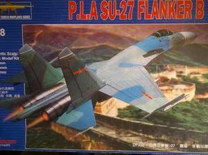P.l.a Su-27 Flanker B (avion) Marca Kitech
