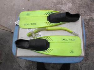 Chapaletas De Buceo  Y Snorkel Dol Vor