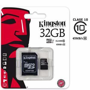 Memoria Micro Sd 32gb Kingston Adaptador Blister Clase 10