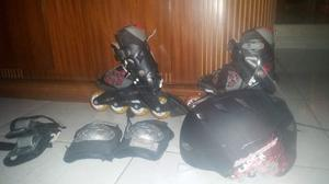 Patines En Linea Rollerblade Bladerunner Casco/protectores