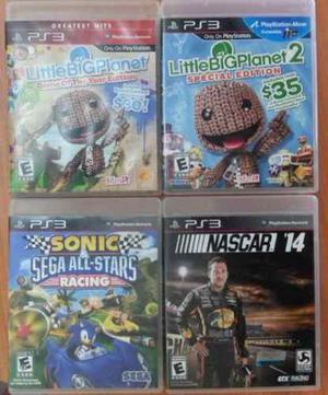 Juegos Ps3 (blu-ray Disc) Little Big Planet, Sonic, Nascar