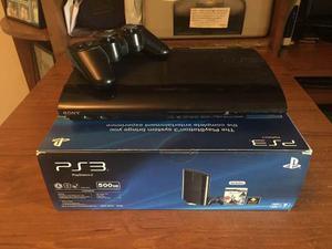 Playstation 3 Super Slim 500 Gb Usado 1 Control 6 Juegos
