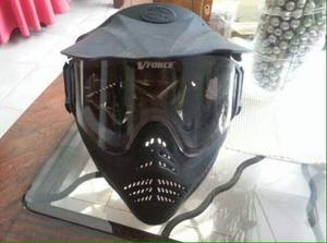 Careta De Paintball V-force Negra (poco Uso)