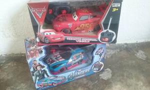 Carro A Control Remoto Cars, Avengers, Spiderman Con Luces