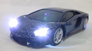 Carro A Control Remoto Lamborguini Azul Luces Led Veloz Rc