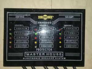 Protector Trifasico 220v - 120amp Masterhouse 100% Funcional