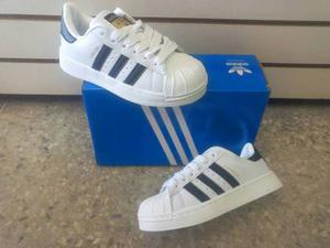 Zapatos Deportivos Casual adidas Super Star Para Ninos Y Nin
