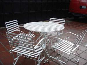 Juego Mueble Jardin Mesa 4 Sillas Platina (ref. )
