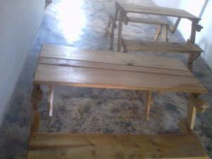 Mesa Plegable De Madera(mesa Banco)