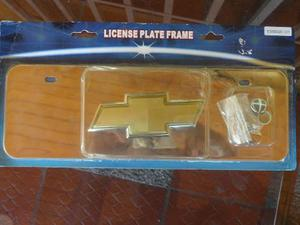 Placa De Lujo En Acero Inoxidable De Chevrolet