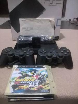 Playstation 2 +2 Controles+chip+5 Juegos+2 Memoria+cables.
