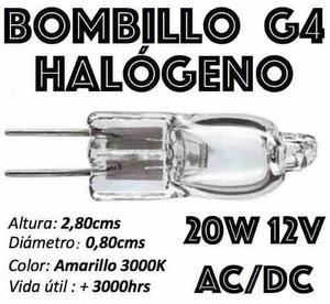 Bombillo Bipin G4 Halógeno Acdc 12v En 5w-10w-20w