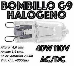 Bombillo Bipin G9 Halógeno Ac Dc 110v En 40w