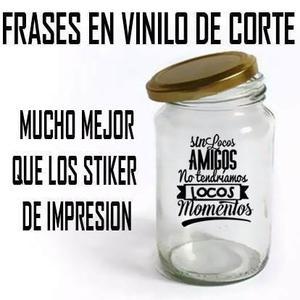 Calcomanias En Vinil Rotulado Para Frascos, Vasos, Copas Etc