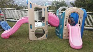 Regalo Parque Gigante Little Tikes 2 Modulos Tunel Y Tobogan