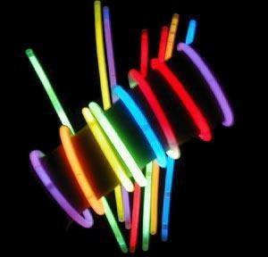 15 Pulseras Glowstick Neon Fluorescentes Hora Loca Cotillon