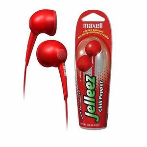 Audifonos Maxell Jelleez Chili Pepper Rojos