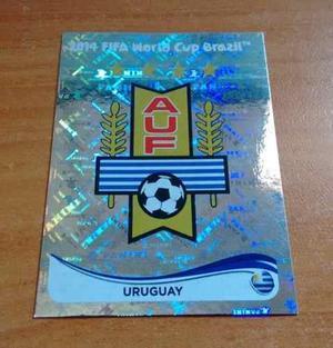 Escudo Selección Uruguay. Panini Mundial Brasil
