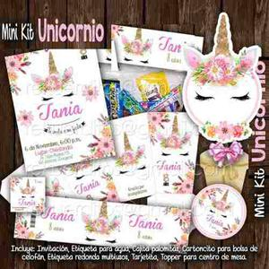 Kit Imprimible Mini Unicornio