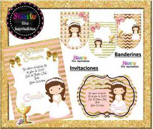 Kit Imprimible Primera Comunión Candy Bar