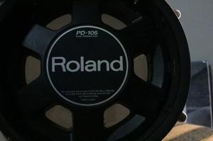 Pad O Tambor Para Bateria Electronica Roland P-105 Bk