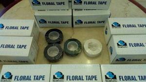 Teipe Floristeria Floral Tape Negro Blanco Verde Caja