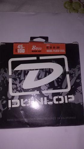 Juego De Cuerdas Para Bajo Dunlop Tensión Medialigera.