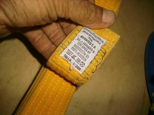 Cinturon De Karate Amarillo Talla  Bushido