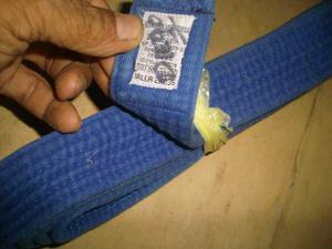 Cinturon De Karate Azul Talla  Usado