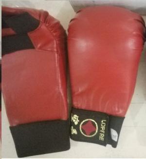Guantines Para Karate Marca Lopre Color Rojo