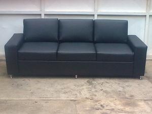 Sofa 3 Puestos Yessy Tela Bipiel
