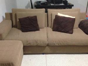 Sofa Modular De 2 Puestos Con Puff