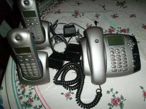 Telefono De Mesa Motorola + 2 Auxiliares Para Linea Cantv
