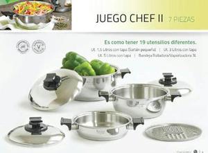 Juego De Ollas Rena Ware Chef Ii