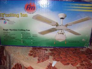 Ventilador De Techo Decorativo Con Lampara 42 Fm