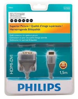 Cable Adaptador Hdmi A Dvi Marca Philips Punta De Oro 24 K