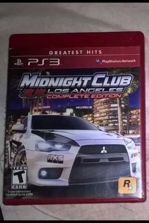 Juego Ps3 Playstation 3 Midnight Club L.a. Edición Completa