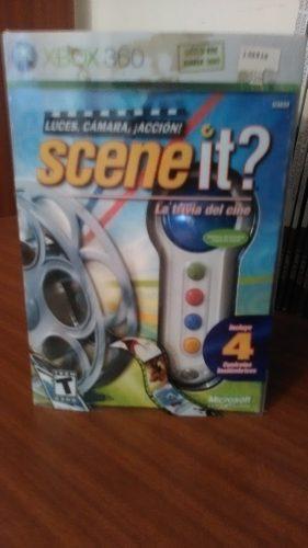Juego Scene It Con 4 Controles Para Xbox 360
