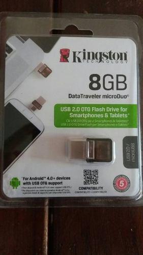 Pendrive De 8gb Marca Kingston Data Traveler Microduo