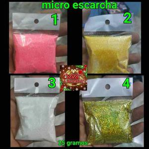 Micro Escarcha Para Decorar De 25 Grm, Ideales Para Uñas