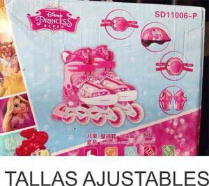 Patines Lineales Princesas Niñas Regalo Navidad Juguete