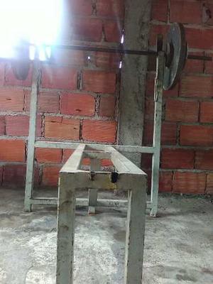 Discos Para Pesas De 20 Kg Y 5kg Barra Y Banco