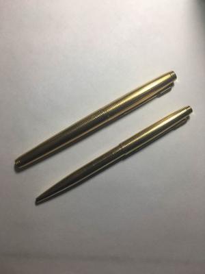 Bolígrafo Y Pluma Fuente Parker Oro 14 Modelo 75 Cap&barrel