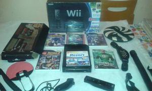 Wii Con Todos Sus Accesorios Y Juegos Dos Meses De Uso