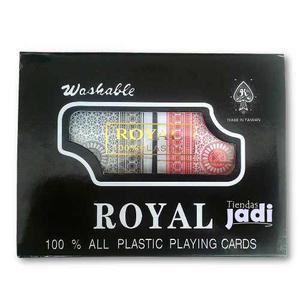 Barajas Cartas 100% Plasticas Pocker Estuche Jpn Royal