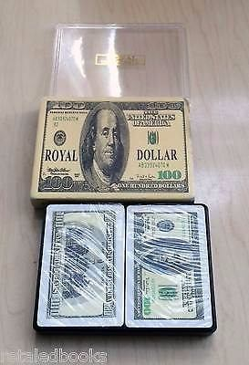 Cartas Poker Royal $100 Dollar All Plastic Playing Japan