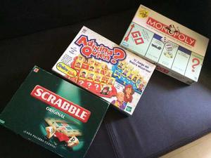 Juegos De Mesa Scrabble, Adivina Quien, Monopolio