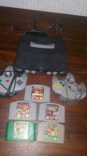 Nintendo 64 + Juegos Y Controles