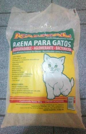 Arena Para Gatos Aglomerante Kantal De 3kg. Nueva
