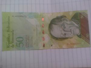 Billete De 50 Bolívares Con Error De Impresión